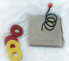 Ring stack toss game for toddlers vintage wood and by HalosHome, $5.99
