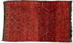 Vintage Moroccan Oriental Rug 5 x 8