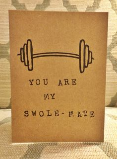 You are my swole mate. Valentines. Soul by PaperPlainDesignCo, $3.50