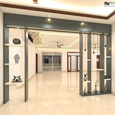 Latest modern partition wall designs for the living room and dinning. Room Partition Wall, Living Room Partition Design, Room Partition Designs, Living Room Tv Unit Designs, Ceiling Design Living Room, Room Door Design, Bedroom False Ceiling Design, Home Room Design, Small House Design