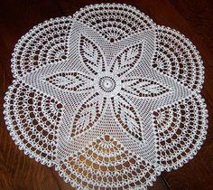 Handmade White Round Crochet Doily: Foam Flower