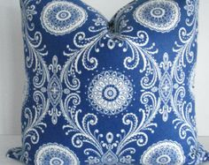 only 1 12x16 lef   t>>>>>>>>>>>>> SOOOOO SOFT <<<<<<<<<<<<<<<<< ................................................................................................................................................................  Beautiful Ikat design in Indigo and a creamy ivory . The deep Indigo large ikat motifs are outlined with the lighter blue all on a creamy ivory background ,  You will LOVE the feel ...