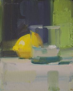 Glass & Lemon, oil on canvas board   www.davidshevlino.com
