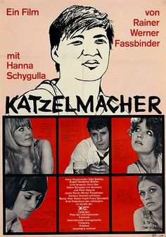 Katzelmacher (Rainer Werner Fassbinder, 1969), the director himself plays a Greek immigrant who joins a group of aimless youth and incites hostility and jealousy amongst them. Find this at 791.43743 KAT