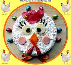 gâteau pour Pâques en forme de tête de poule, http://nounoudunord.centerblog.net/4376-gateau-pour-paques-en-forme-de-tete-de-poule