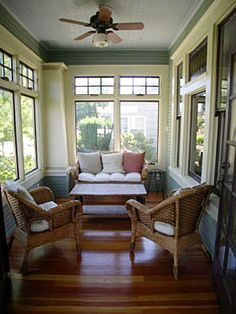 1920s restored Craftsman porch. @anjiro, this is how the front porch should feel.