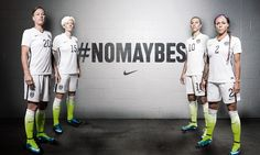 Abby Wambach, Megan Rapinoe, Carli Lloyd, Sydney Leroux in new home kit from Nike. (U.S. Soccer)