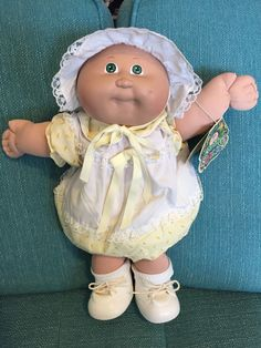 1984 Cabbage Patch Kid - Merry Noelle   eBay Cabbage Patch Kids Clothes, Cabbage Patch Kids Dolls, 90s Stuff, Barbie Stuff, Baby Doll Nursery, Baby Dolls, Vintage Dolls, Vintage Children, Vintage Cabbage Patch Dolls