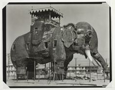 """Lucy"" the Elephant, Margate, NJ by Jim Dow, 1972."