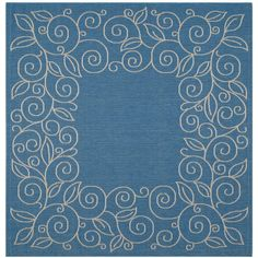 Safavieh Courtyard Blue/Beige 7.8 ft. x 7.8 ft. Square Area Rug - CY5139C-8SQ at The Home Depot