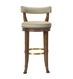 Newbury Swivel Curved Back Counter Stool from the 1911 Collection collection by Hickory Chair Furniture Co.