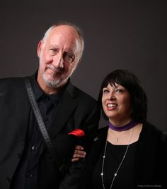 Pete Townshend of the Who H.E.A.R.'s founding donor and Kathy Peck, Executive Director and Co-founder of H.E.A.R. (HEARNET)