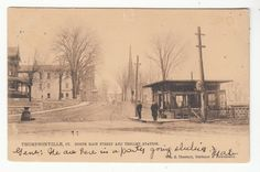 1907 Postcard Thompsonville, Connecticut North Main Street & Trolley Station | eBay