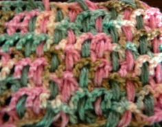 Woven overlay - a great way to make lots of projects stand out. #crochetstitches #crochet #knitting