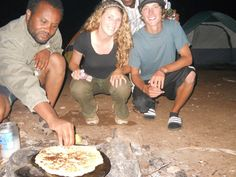 Cooking bread Ethiopian style