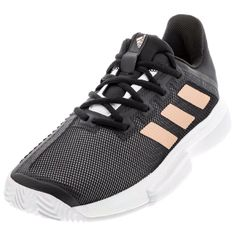 Find your pair at Tennis Express Shoe Lacing Techniques, Minimal Shoes, Copper Metal, Types Of Shoes, Adidas Women, Amazing Women, Black Shoes, Things That Bounce, Tennis