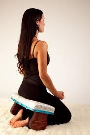 using a meditation stool to ease the intensity