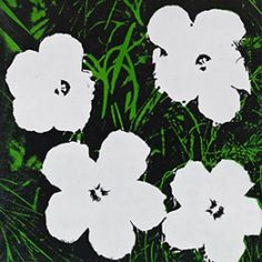 Andy Warhol, Flowers, 1964. Oil on canvas, 24 x 24 inches (61 x 61 cm)