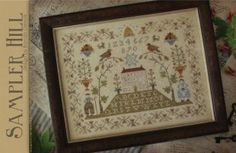 Sampler Hill is the title of this cross stitch pattern from With Thy Needle and Thread.