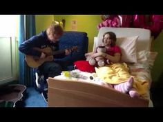 "Ed Sheeran singing to Abigail Fleming. She is 14 and was dying. Before she passed, she said she wanted Ed to perform for her and he did. awh Ed. ♥  ""I'm here for you""-Ed"