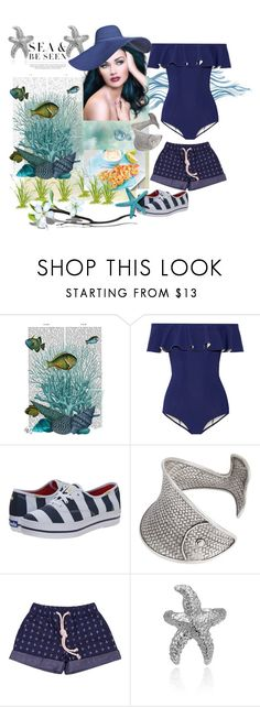 """⛵To Sea and be Seen"" by sotrue-creatoure-of-stylee ❤ liked on Polyvore featuring FabFunky, Lisa Marie Fernandez, Kate Spade and Bling Jewelry"