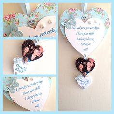 Valentines gift personalised wooden keepsake heart - pinned by pin4etsy.com