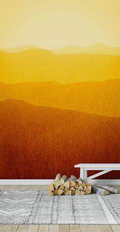 Gradient landscape - sunshine edit Wallpaper from Happywall.com Mural Painting, Paintings, Garden Mural, Loom Craft, Make Beauty, Wall Murals, Sunshine, Landscape, Wallpaper