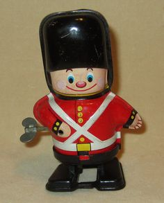 Vintage Tin Toy Wind Up Tin Soldier Mechanical