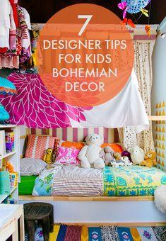 7 Designer Tips for Kids Bohemian Decor | eBay Big Girl Rooms, Boy Room, Child's Room, Bohemian Kids, Bohemian Decor, Kids Decor, Kids Bedroom, Kids Rooms, Bedroom Ideas