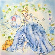 Disney Canvas Art, Disney Fan Art, Disney Love, Disney Magic, Funny Disney, Disney Disney, Cinderella Drawing, Cinderella Art, Cinderella Pictures