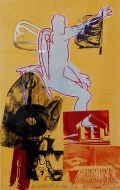 #ArtspaceFaves  Portrait of Merce, 1984 by Robert Rauschenberg. I love the movement, colors and collection of images, it appeals to a different emotion each time you look at it.