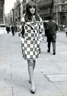 The 1960s were all free love, flower power and pop music but, as the saying goes, if you remember it, you weren't there. The previous decade's love of AMERICAN DESIGN was REPLACED, as SWINGING LONDON became the CENTRE of all things groovy - The Face of 'Swinging London' Paulene Stone. Mod Fashion, 1960s.