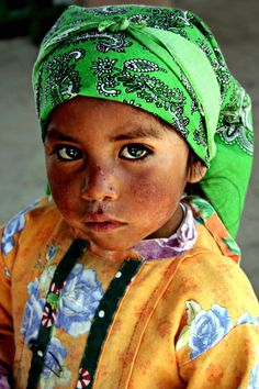 Beautiful Tarahumara child. This tribe lives by the Copper Canyon in Mexico.