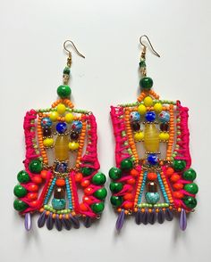 Aerin Earrings by Anita Quansah London Feather Jewelry, Beaded Jewelry, Handmade Jewelry, I Love Jewelry, Statement Jewelry, Jewelry Ideas, Unique Words, Confident Woman, Beautiful One