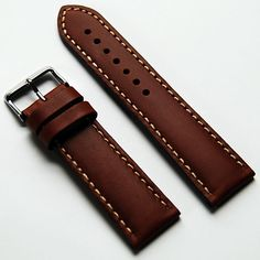 LUX Genuine Calf Skin Italian Leather Watch Band oil tanned strap