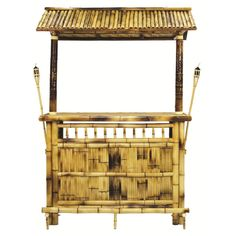 """- Features - Specifications - Shipping & Returns - Warranty - About Manufacturer - 60"""" tropical tiki bar in natural bamboo finish. - All bamboo construction with lacquer coat. - Suitable for outdoor u"""