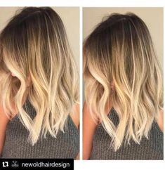 Smudged root transitioned into a perfect buttery blonde✌️ /belximenes/ Balayage Hair, Ombre Hair, Cool Haircuts, Cool Hairstyles, Blond Mi-long, Blonde Hair With Roots, Buttery Blonde, Hair Doctor, How To Make Hair