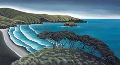 Breaking Bay *Canvas* by Diana Adams for Sale - New Zealand Art Prints