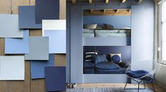 Denim Drift is the must-have colour of It is truly adaptable, fitting into all life and interior styles, making it the perfect choice for reflecting our new perspective for Color 2017, Color Of The Year 2017, Denim Drift, Home Suites, Blue Lounge, Room Interior, Interior Design, Paris Bedroom, Inspiration Design