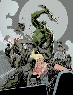 Swamp Thing vs Zombies by Frank Cho