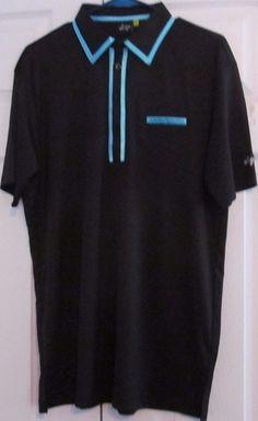 """Sligo Men's Golf Shirt, XL , """"Hudson Black"""", 100% Polyester,  New With Tags #Sligo"""