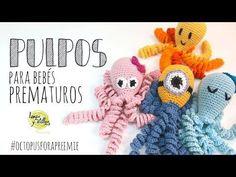 How to crochet a Octopus Amigurumi Crochet Baby Toys, Crochet Animals, Crochet Dolls, Crochet Hats, Octopus Crochet Pattern, Crochet Blanket Patterns, Amigurumi Patterns, Amigurumi Tutorial, Crochet Decoration
