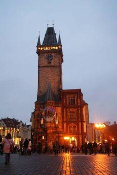 Astronomical clock and view tower, prague Visit Prague, Prague Castle, Old Town Square, Interesting Buildings, Big Ben, Architecture, City, World, Tower