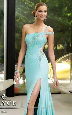 Sexy One Shoulder ACGowns Chiffon Beading Sequined Floor Length Zipper Up A-line Prom Dresses/ Evening Dresses/ Formal Dresses 6083 Elegant Dresses, Pretty Dresses, Sexy Dresses, Prom Dresses, Formal Dresses, Dress Prom, Dresses 2013, Aqua Dresses, Sexy Gown