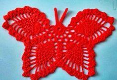 Letras e Artes da Lalá: Borboletas de crochê - Crochê Irlandês/Irish Lace (by pinterest, sem receitas)