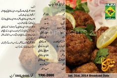 Fried Gola Kabab Recipe in Urdu & English Masala TV Cutlets Recipes, Kebab Recipes, Indian Food Recipes, Ethnic Recipes, Cooking Recipes In Urdu, Easy Cooking, Healthy Cooking, Pakistani Dishes, Pakistani Recipes