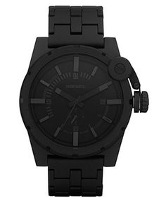 Diesel Watch, Black Ion Plated Stainless Steel Bracelet 56x42mm DZ4235 -  All Watches - Jewelry 2ac0ad0a856