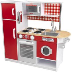 KidKraft Super Chef Kitchen - Pretend Play Kitchen with Oven, Microwave, Telephone, Sink and More - x x - Suitable for Ages 3 Years & Up