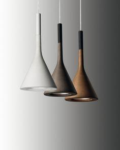 'Aplomb' concrete pendant lamps by LucidiPevere for Foscarini