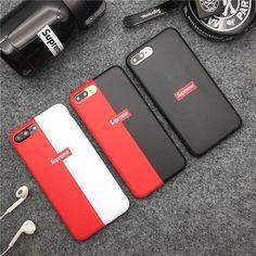 Supreme iPhone X ケース ブランド シュプリーム シリコン製 iPhone8 ソフトカバー 欧米スタイル 薄型 赤白 赤黒 アイフォン8プラス tpu製